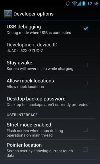 USB Debugging on ICS