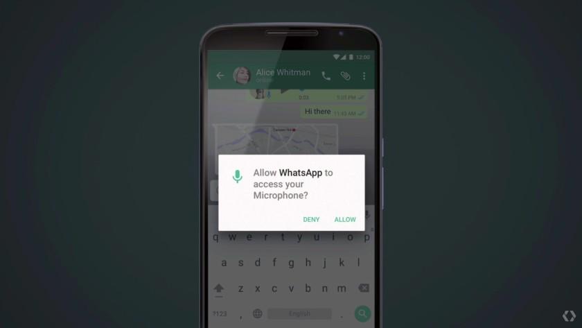 Android M granular app permissions